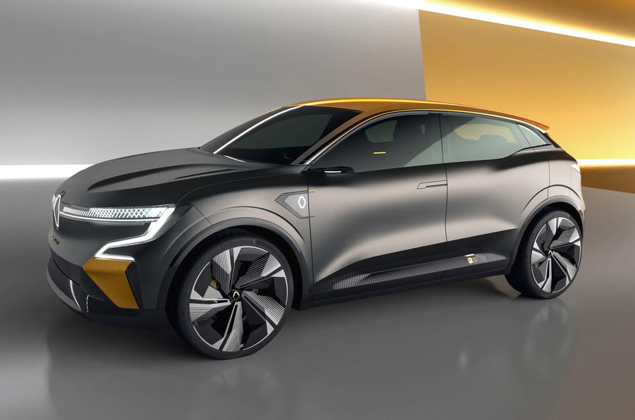 Renault Megane eVision concept official images - studio side
