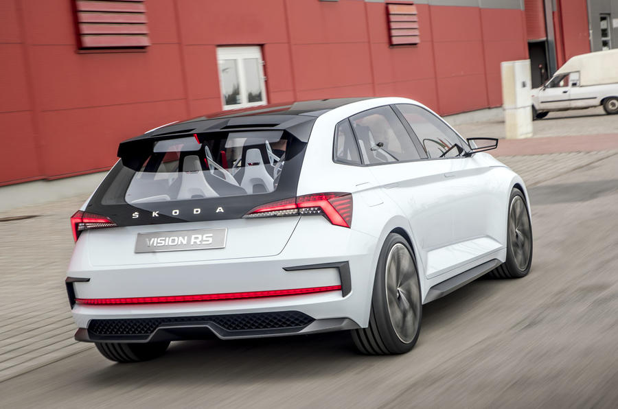 Skoda Vision RS concept drive - hero rear