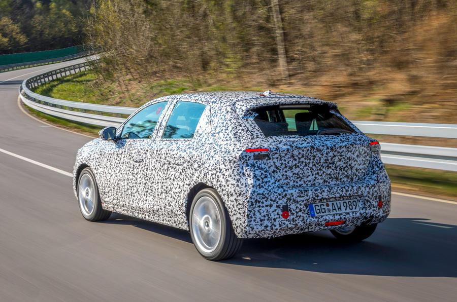 Vauxhall Corsa 2019 prototype drive - hero rear