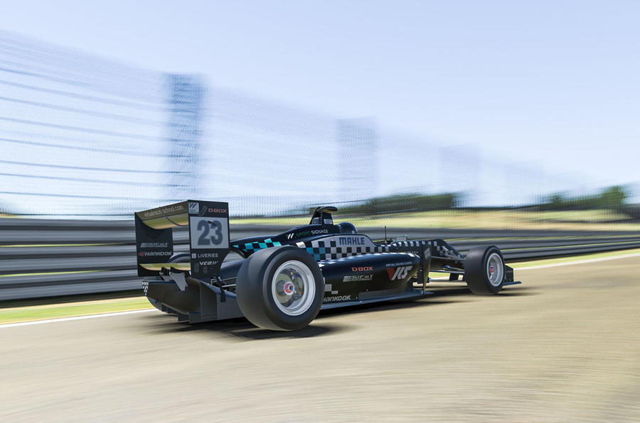 VCO proSIM racing series preseason - rear