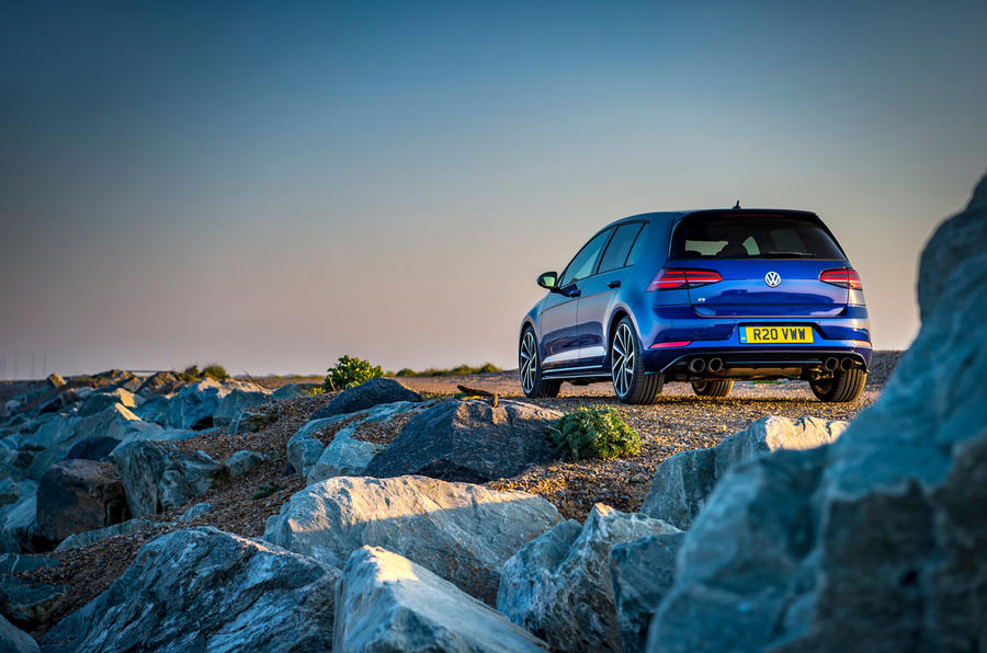 Volkswagen Golf R Performance Pack 2018 review static rear