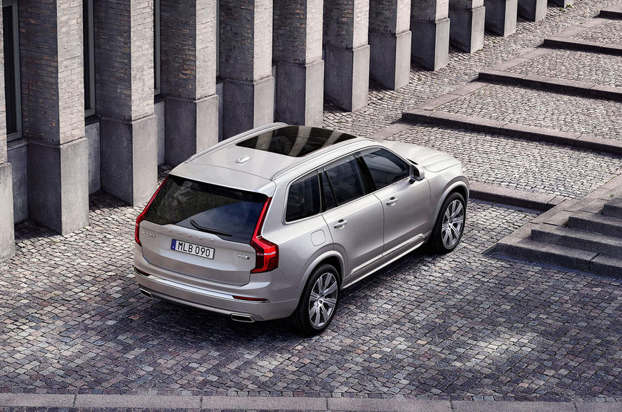 Volvo XC90 2019 refresh official press - hero rear