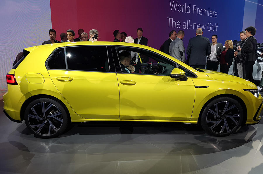 2020 Volkswagen Golf mk8 official reveal - side
