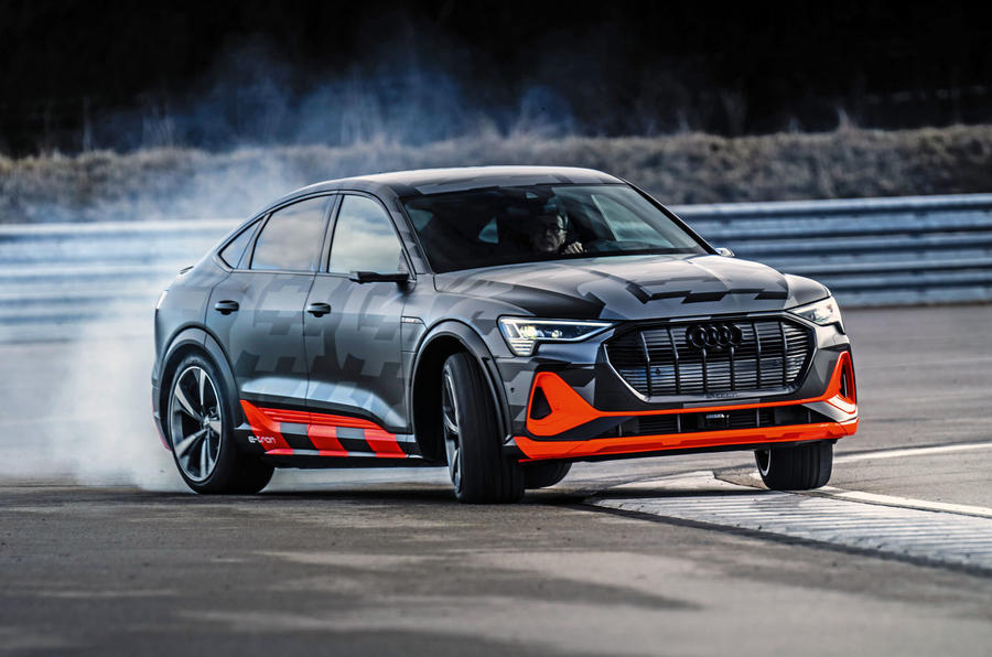 Audi E-tron S Sportback prototype drive - slide front