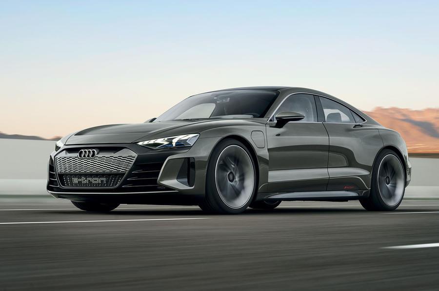 Auto E-tron GT concept official press reveal - hero front