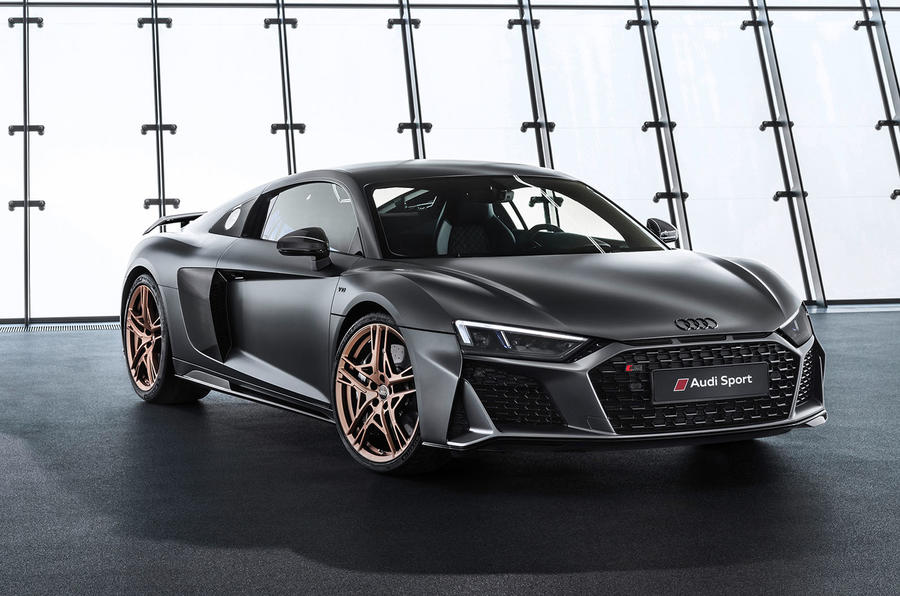 Audi R8 V10 Decennium official press images - hero front