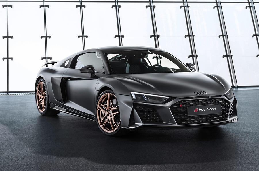Audi R8 V10 Decennium official press images - hero front