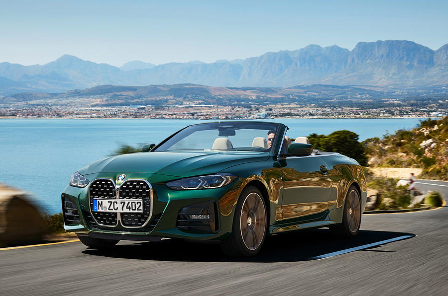 2021 BMW 4 Series Convertible official images - tracking front