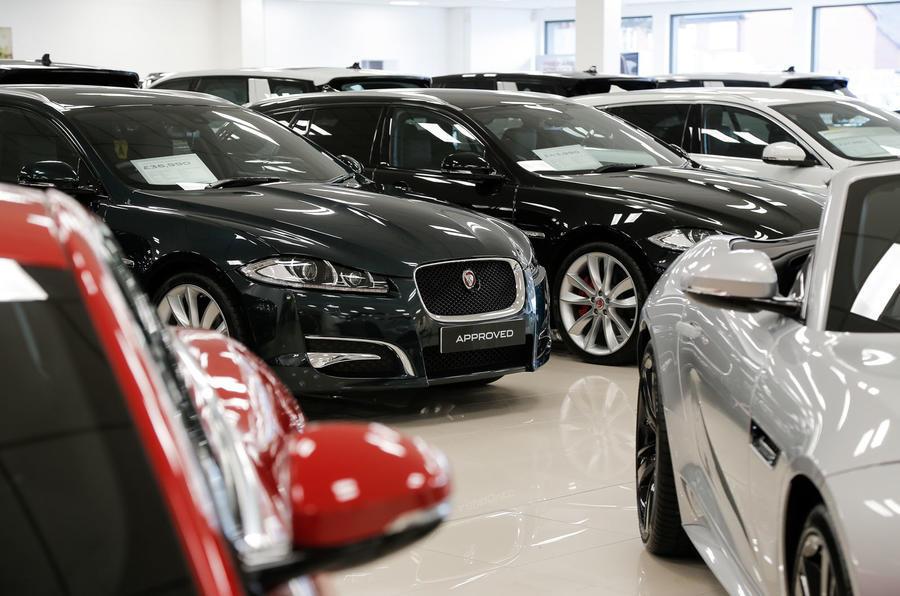 Jaguar used cars sales showroom