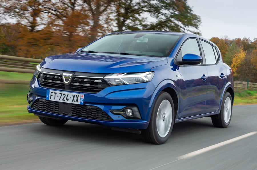99 dacia sandero 2021 uk official images front