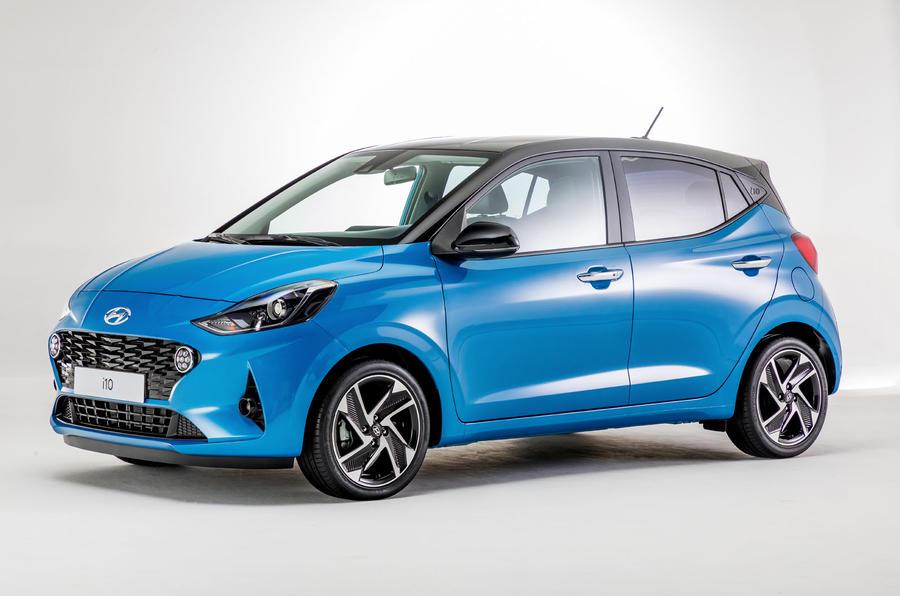 Hyundai i10 2019 reveal - studio front