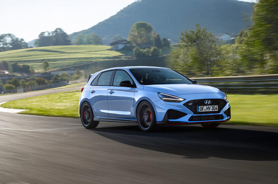 Hyundai i30 N 2020 facelift official images - track front