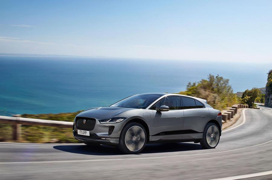 Jaguar I-Pace 2021 facelift official images - tracking front