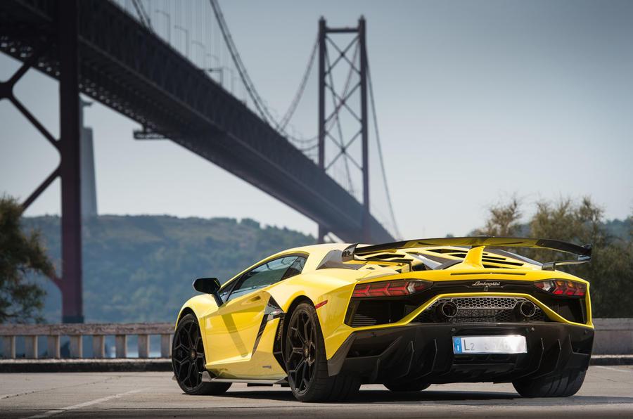 Lamborghini Aventador SVJ 2018 first drive review static rear