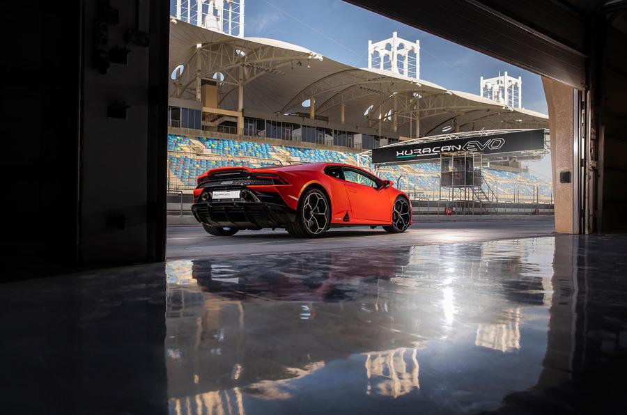Lamborghini Huracan Evo 2019 first drive review - static rear