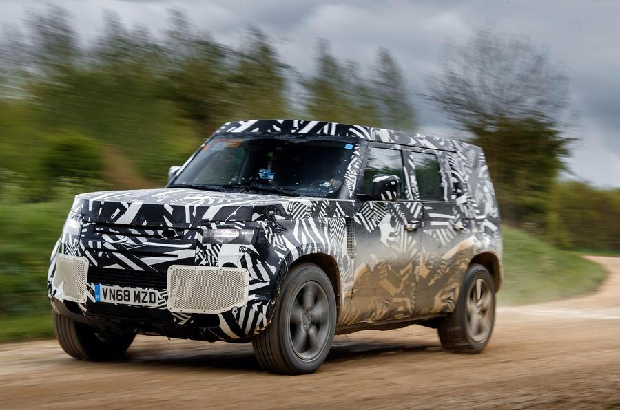 2020 Land Rover Defender prototype ride - hero front