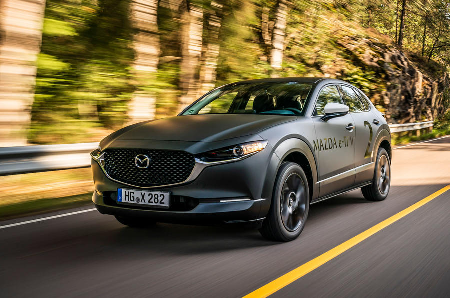 Mazda e-TPV prototype 2019 first drive review - hero front