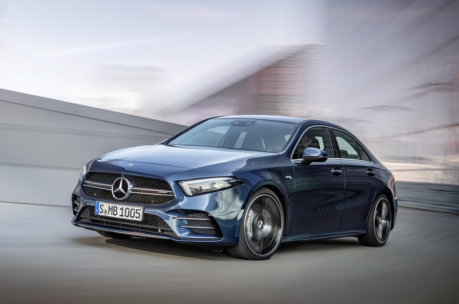 Mercedes-AMG A35 Saloon 2019 official reveal - hero front