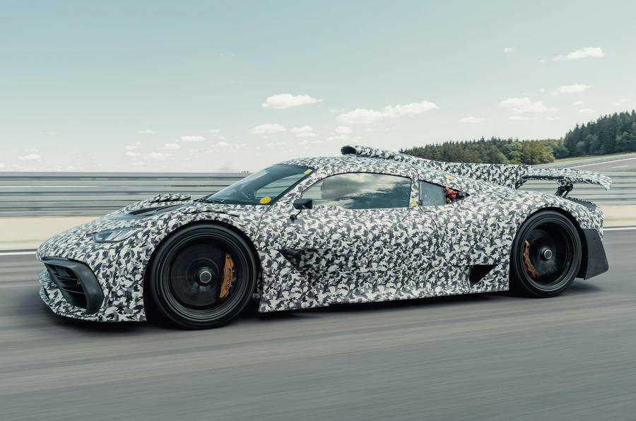 Hình ảnh theo dõi ngụy trang chính thức của Mercedes-AMG One - mặt trước