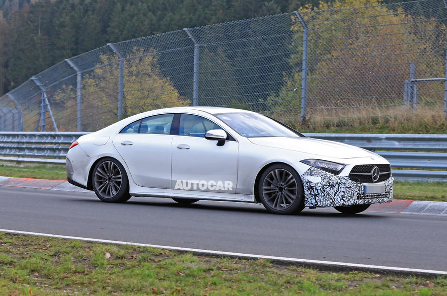 2021 Mercedes-Benz CLS spy photos - tracking front