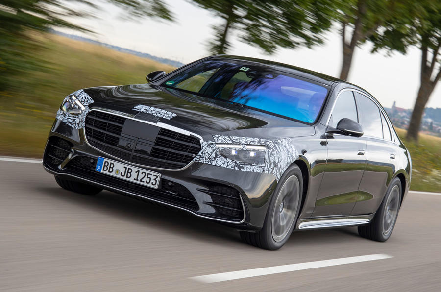 2020 Mercedes-Benz S-Class prototype ride - hero front