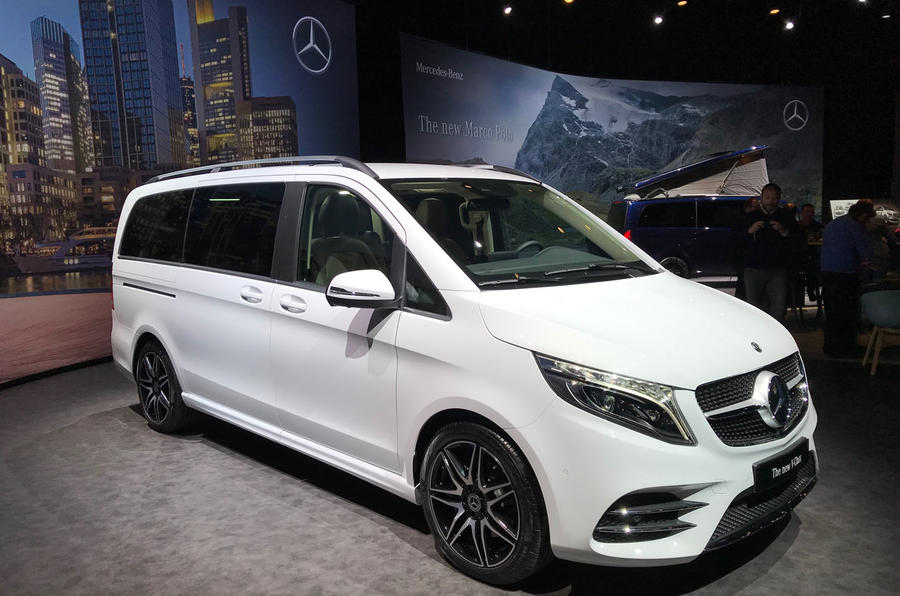 Mercedes-Benz V-Class 2019 reveal - front (white)