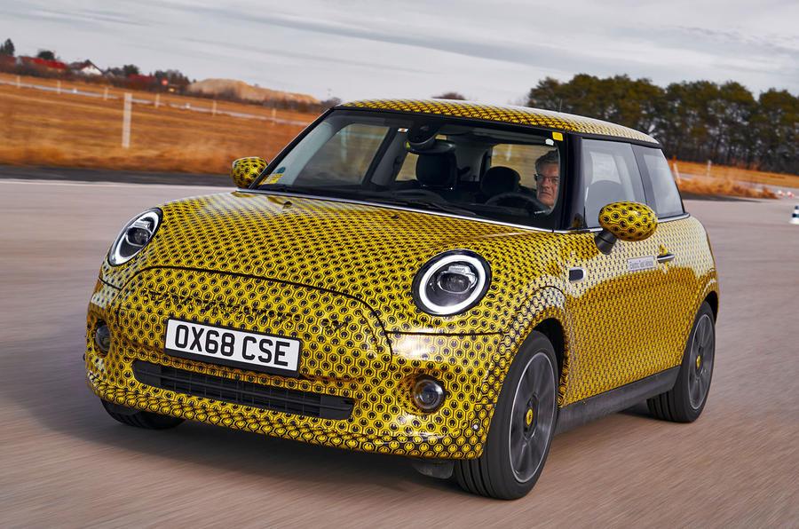 Mini Cooper SE prototype drive 2019 - hero front