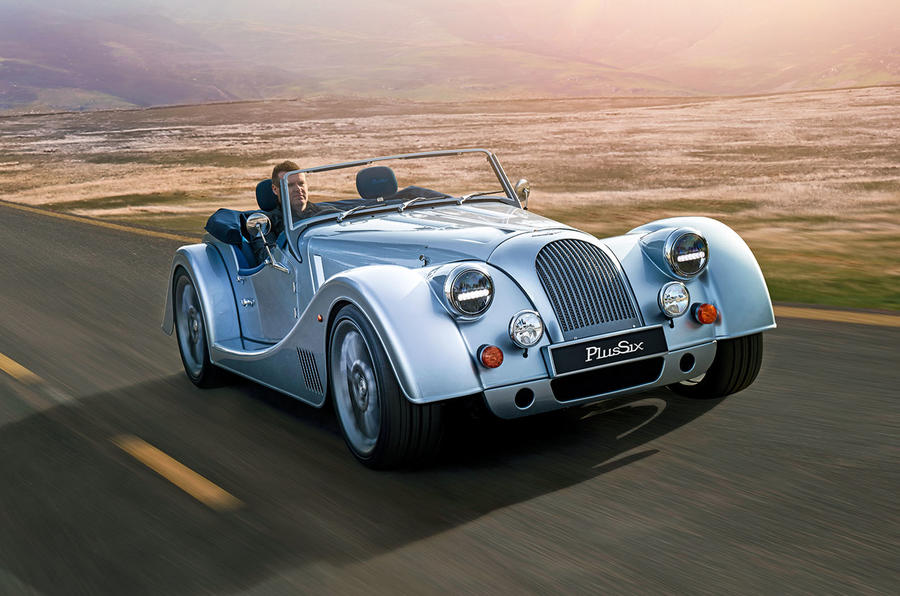 Morgan Plus Six 2019 official press images - hero front