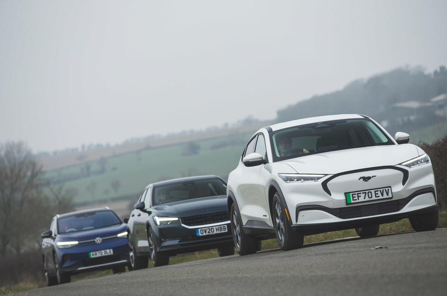 Taking charge: VW ID 4 and Ford Mustang Mach-e meet Polestar 2 | Autocar