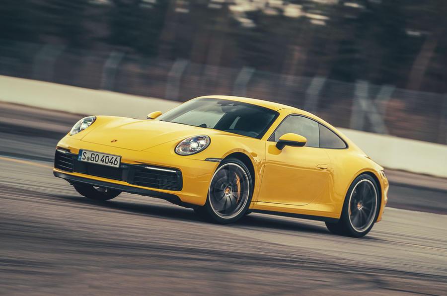 2019 Porsche 911 Carrera S track drive - hero front