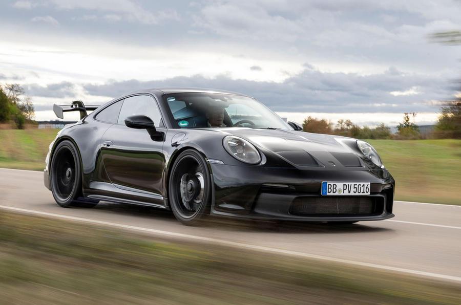 Porsche 911 GT3 2021 passenger ride - hero front