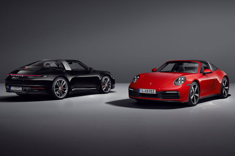 Porsche 911 Targa 992 official images - studio lead