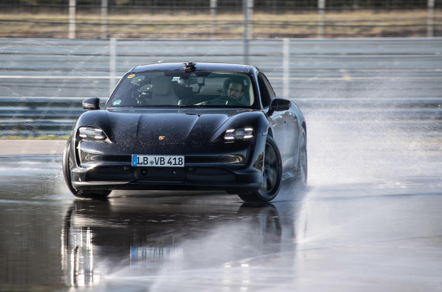 Porsche Taycan sets electric drift record