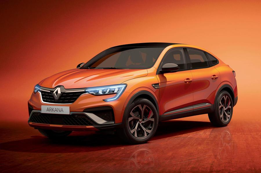 2021 Renault Arkana official European images - hero front