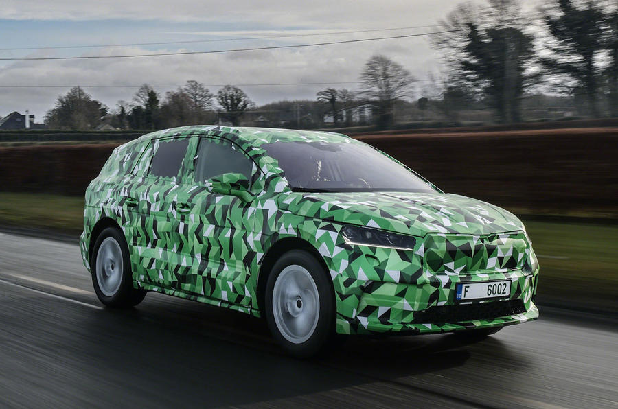 2020 Skoda Enyaq prototype first drive - tracking front