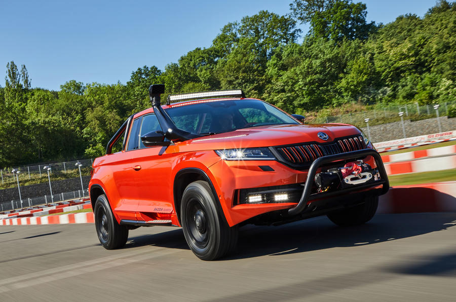 Skoda Mountiaq concept first drive review - hero front