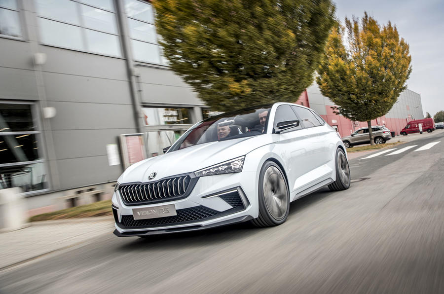 Skoda Vision RS concept drive - hero front