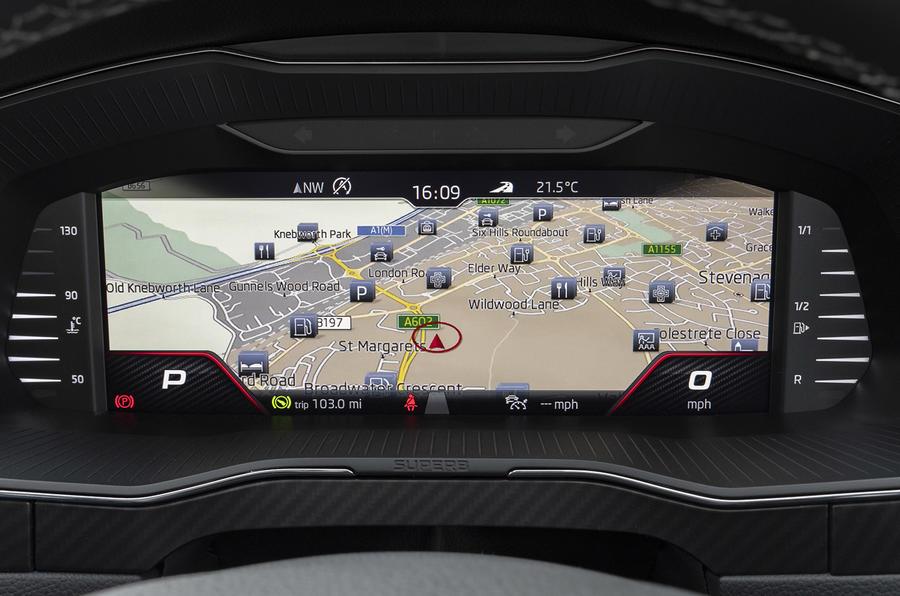 Skoda Superb Estate Sportline 2020 UK first drive review - navigation