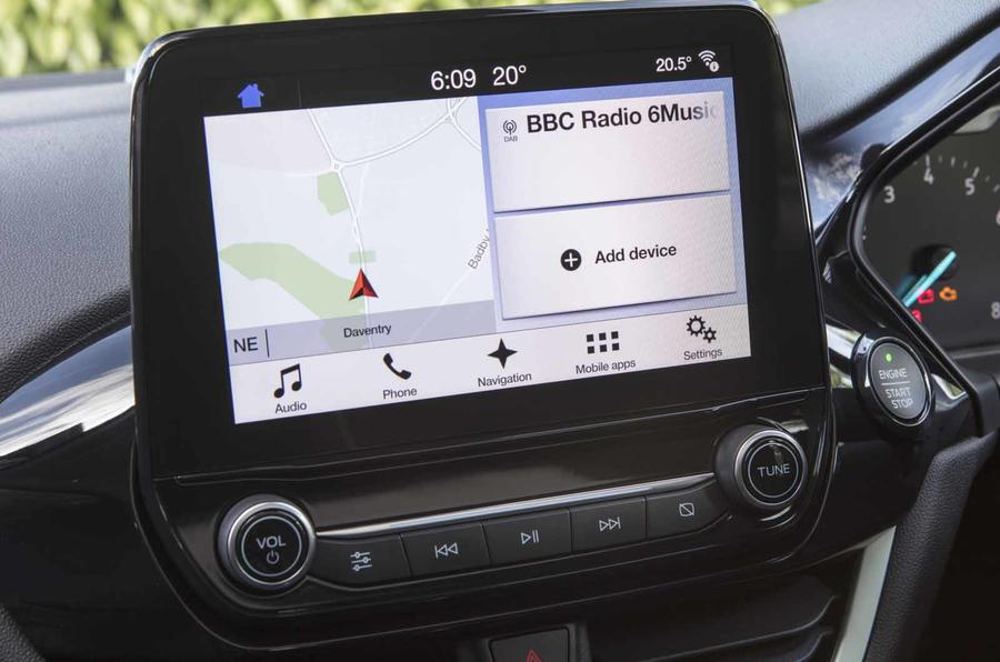 Ford Fiesta infotainment system