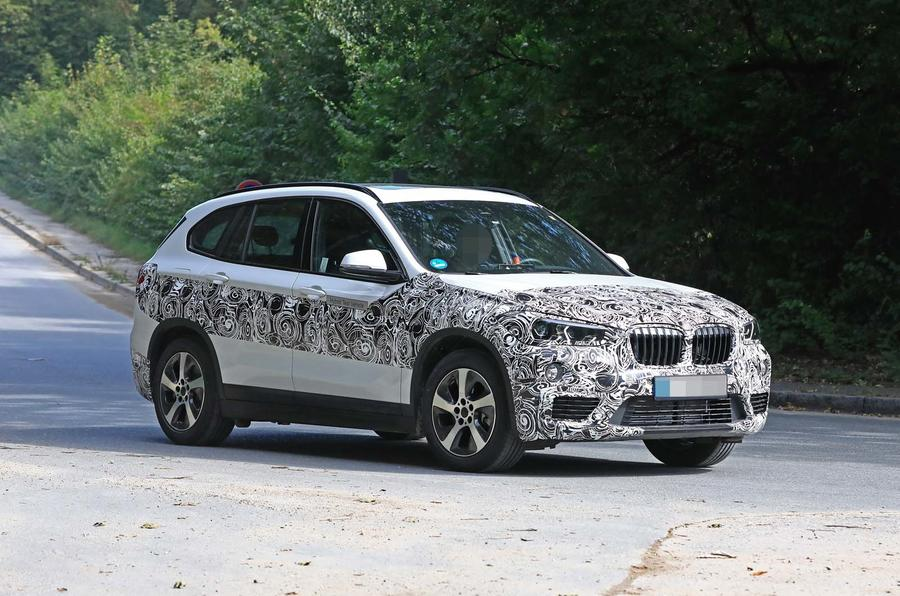 bmw x1 2019 facelift spotted as hybrid prototype autocar. Black Bedroom Furniture Sets. Home Design Ideas