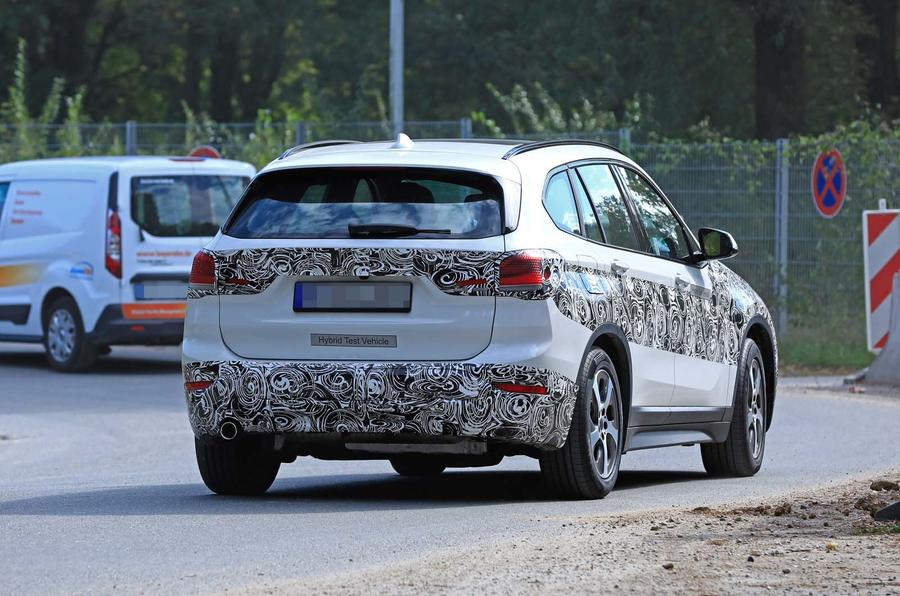 BMW X1 2019 facelift spotted as hybrid prototype | Autocar
