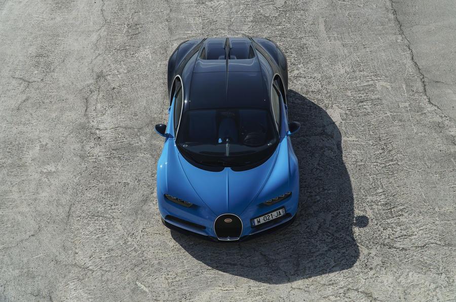 Bugatti Chiron aerial