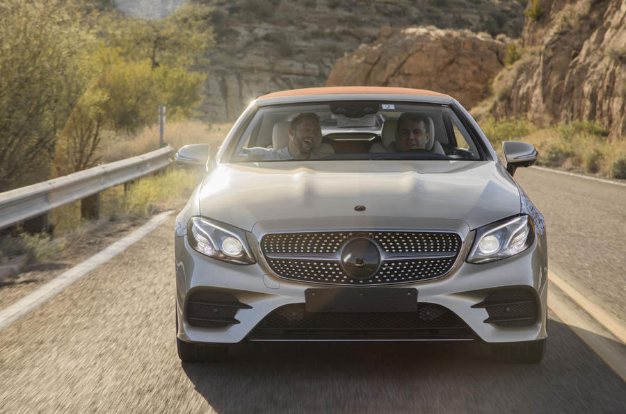 2017 Mercedes-Benz E-Class Cabriolet prototype - we take a ride