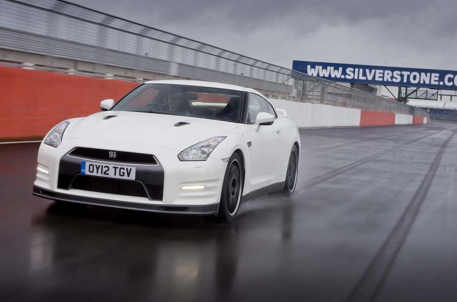 Nissan GT-R on track at Silverstone