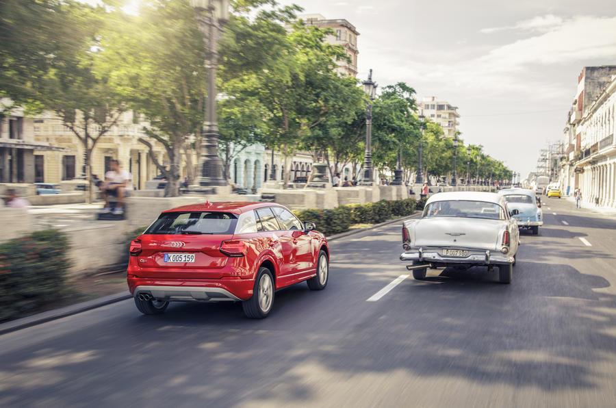 Audi Q2 rear in traffic