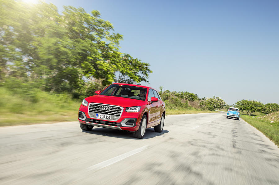 Audi Q2 on the road