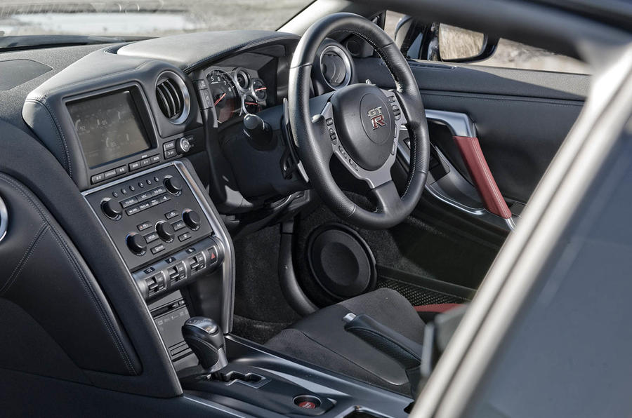 Nissan GT-R interior and steering wheel