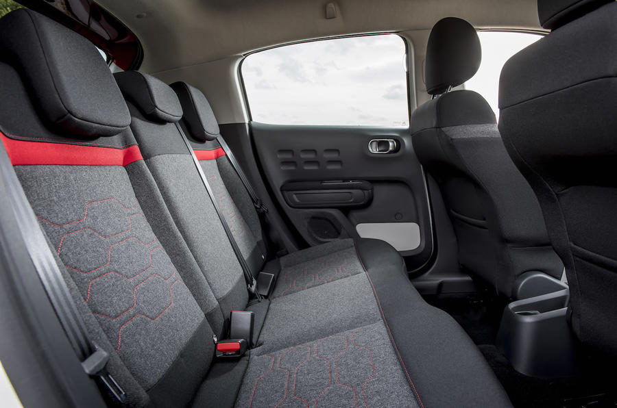 Citroen C3 rear seats