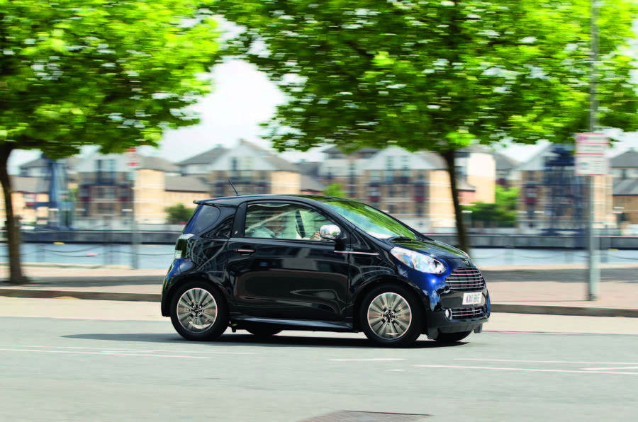 Aston Martin Cygnet driving - side