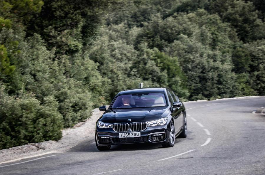 BMW 730Ld cornering